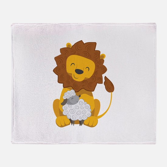 LION AND LAMB Throw Blanket