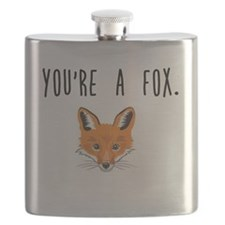 Funny Cute fox Flask