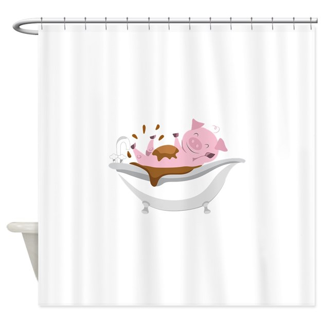 PIG IN BATHTUB Shower Curtain By Greatnotions17