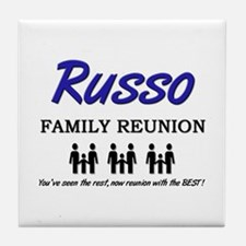 Russo Family Reunion Tile Coaster