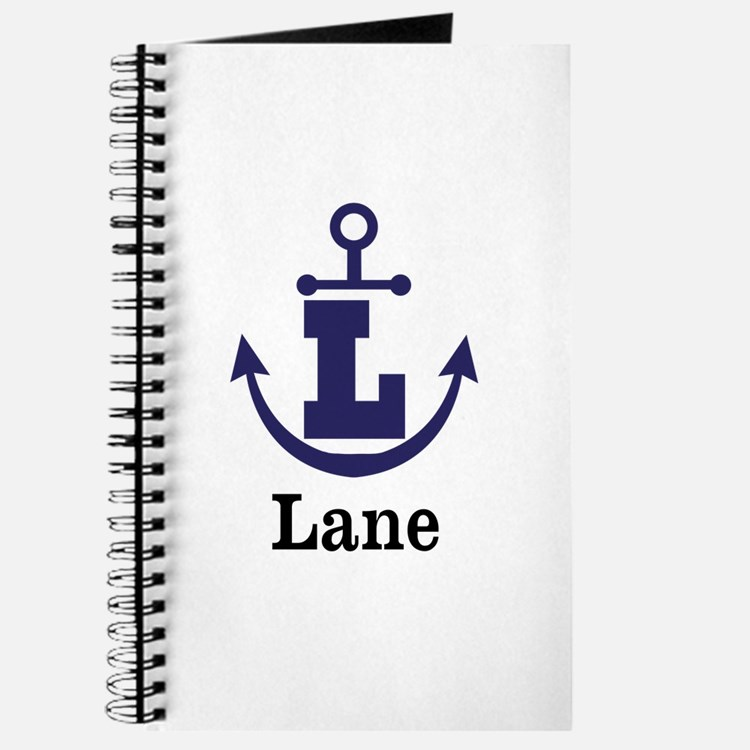 Personalized Anchor Monogram L Journal