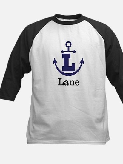 Personalized Anchor Monogram L Baseball Jersey