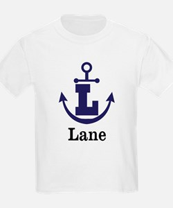 Personalized Anchor Monogram L T-Shirt