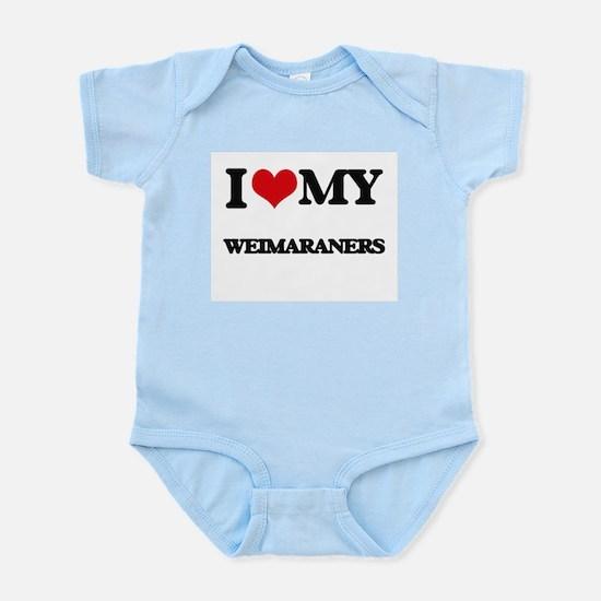 I love my Weimaraners Body Suit