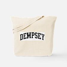 DEMPSEY (curve-black) Tote Bag
