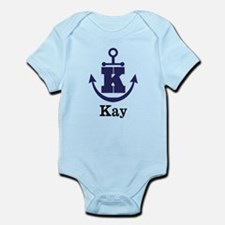 Personalized Anchor Monogram K Body Suit