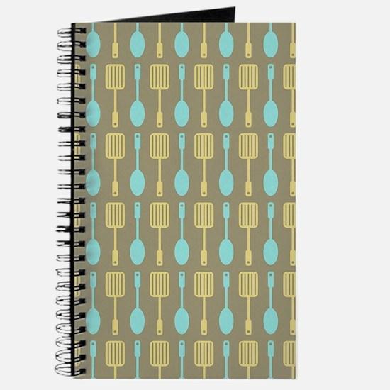 Retro Kitchen Cooking Utensils Journal