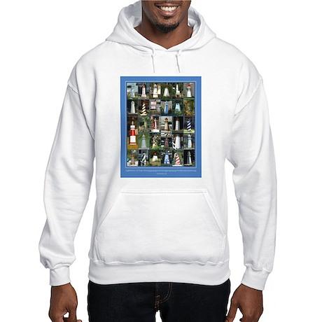 Lake Lighthouses on a Hooded Sweatshirt