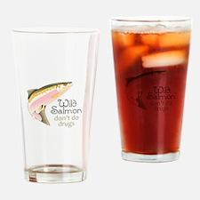 WILD SALMON Drinking Glass