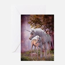Enchanted Unicorns Greeting Card