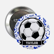 "Blue Soccer 2.25"" Button (10 pack)"