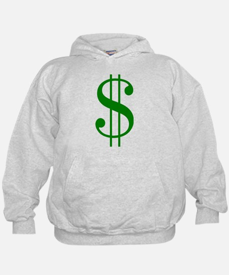 $ green dollar sign Hoodie