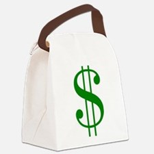 $ green dollar sign Canvas Lunch Bag