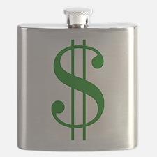 $ green dollar sign Flask