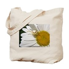 Goldenrod Crab Spider On Daisy Tote Bag