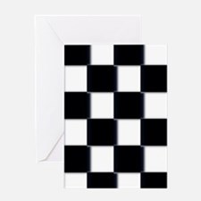 minimalist checkerboard Greeting Cards