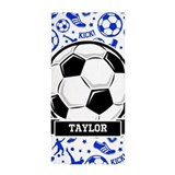 Personalized soccer Beach Towels