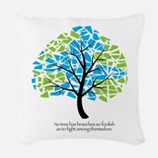Peace Tree - Woven Throw Pillow
