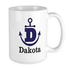 Personalized Anchor Monogram D Mugs