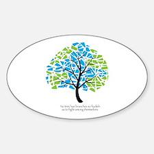 Peace Tree - Oval Decal