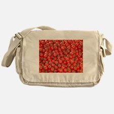 red tomatoes photo Messenger Bag