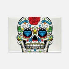 Cute Halloween skull Rectangle Magnet