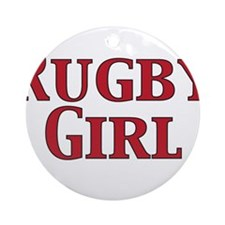 Rugby Girl Ornament (Round)
