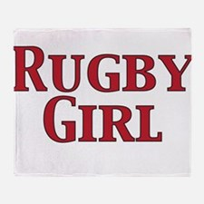 Rugby Girl Throw Blanket