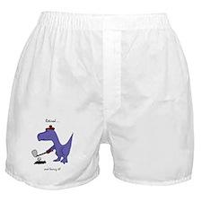 Retired Golfer Dinosaur Boxer Shorts