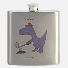 Retired Golfer Dinosaur Flask