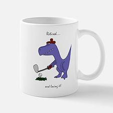 Retired Golfer Dinosaur Mugs