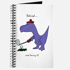 Retired Golfer Dinosaur Journal