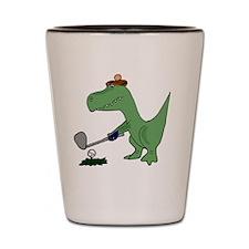 T-Rex Dinosaur Golfer Shot Glass