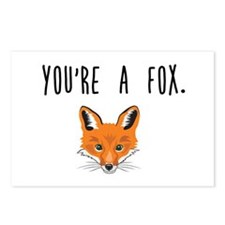 Unique Cute fox Postcards (Package of 8)
