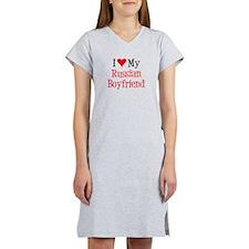 Love My Russian Boyfriend Women's Nightshirt