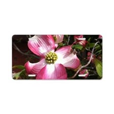 Dogwood Blossom Aluminum License Plate