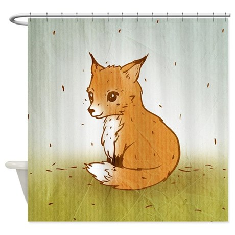 Cute Little Fox Shower Curtain By Oph3lia