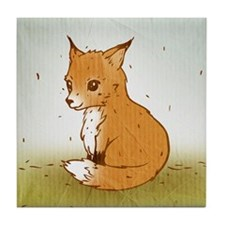 Cute Little Fox Tile Coaster