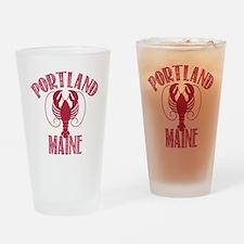 Portland Maine Drinking Glass