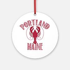 Portland Maine Ornament (Round)