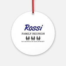 Rossi Family Reunion Ornament (Round)