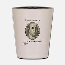 Funny Ben franklin Shot Glass