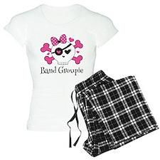 Band Groupie Girls Rock Skull Pajamas