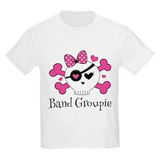 Band Groupie Girls Rock Skull T-Shirt