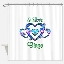 I Love Bingo Shower Curtain