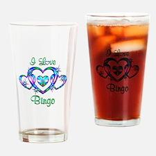 I Love Bingo Drinking Glass