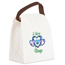I Love Bingo Canvas Lunch Bag