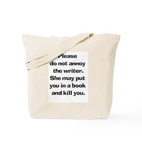 Writer's Warning Tote Bag