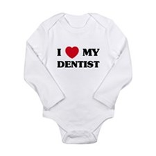 Cute I love my dentist Long Sleeve Infant Bodysuit