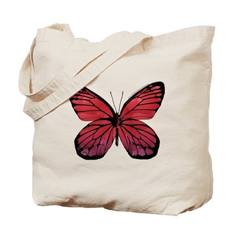 Red Butterfly Picture Tote Bag